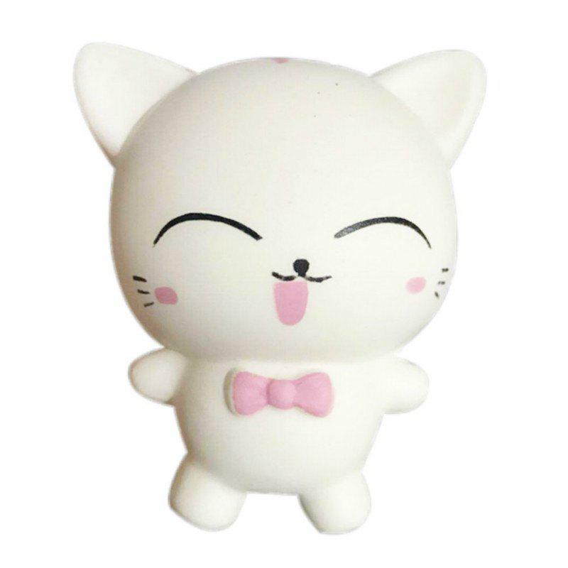 Outfit Squishys Slow Rising Stress Relief Soft Toys Replica Mini Cute Cat with Tie
