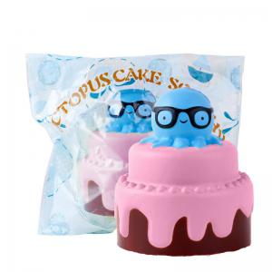 Jumbo Squishy Slow Rising Stress Relief Toy Made By Enviromental PU Replica Octopus Cake -