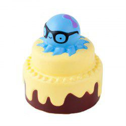 Slow Rising Stress Relief Toy Made By Enviromental PU Replica Octopus Cake -