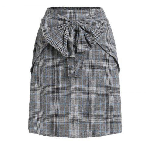 Shops The 2018 New Bow Plaid Skirt