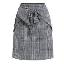 The 2018 New Bow Plaid Skirt -