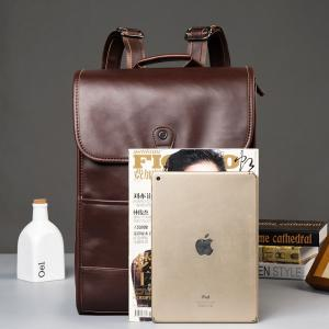 Leather Backpack European Rucksack Laptop Knapsack Fashion Travel Business Back Bag -