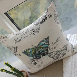 Butterfly Print Fashionable and Comfortable Fashion Comfy Cotton Cushion Cover -
