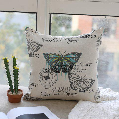 Fashion Butterfly Print Fashionable and Comfortable Fashion Comfy Cotton Cushion Cover