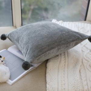 Fashionable Pillowcase European-Style Solid Color Pillow Cover -