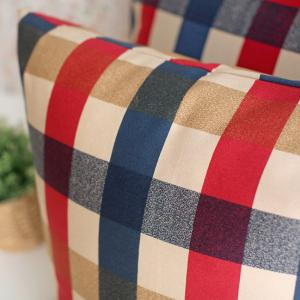 Home Decorative Pillowcase Edinburgh Plaid Pattern Supple Sofa Cushion Cover -