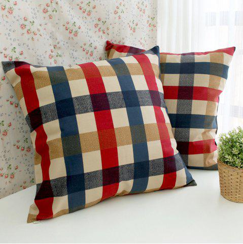 Online Home Decorative Pillowcase Edinburgh Plaid Pattern Supple Sofa Cushion Cover