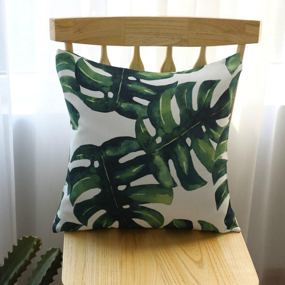 Outfits Decorative Pillowcase Fresh Green Plant Leaf Pattern Cushion Cover