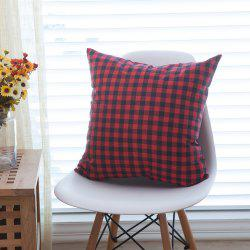 Home Decorative Pillowcase Refreshing Japanese Plaid Pattern Supple Sofa Cushion Cover -