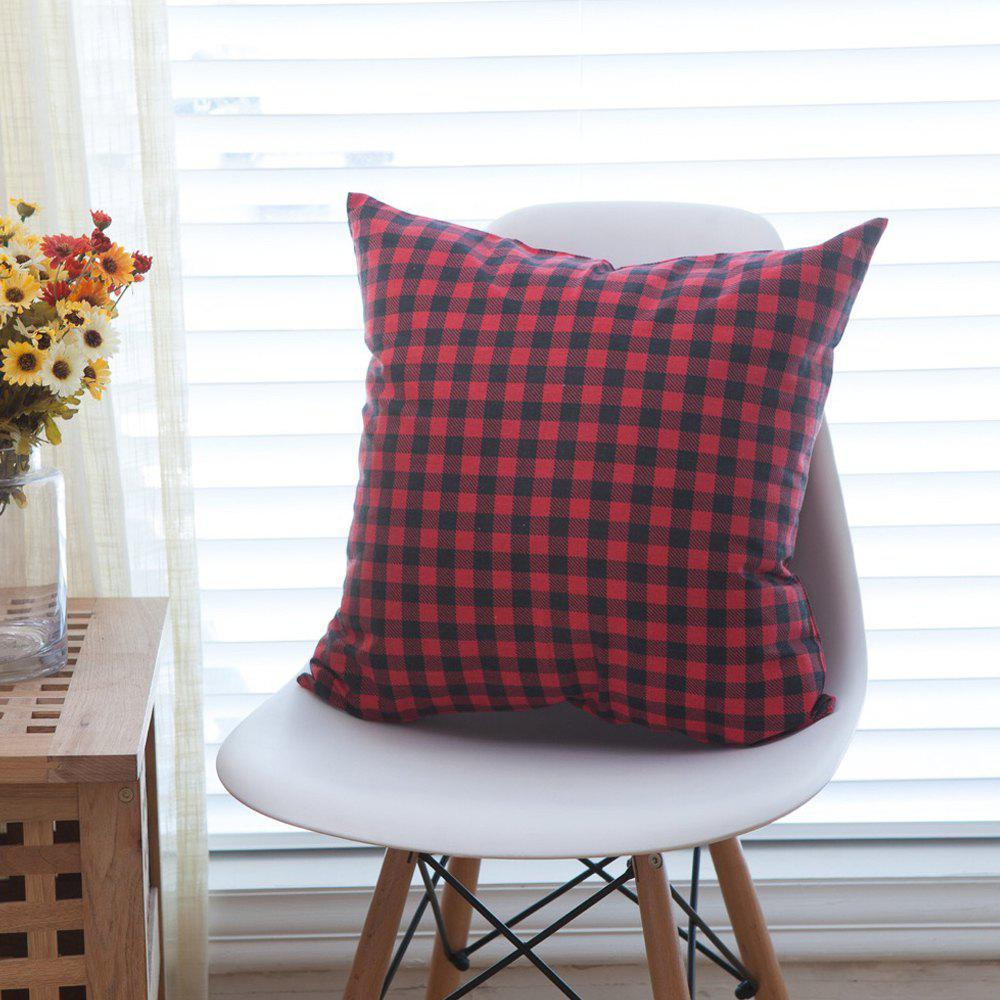 Latest Home Decorative Pillowcase Refreshing Japanese Plaid Pattern Supple Sofa Cushion Cover