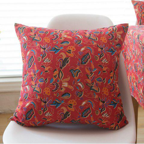 Outfit Cushion Cover Pastorable Style Bird Floral Printed Pattern Throw Pillow Cover