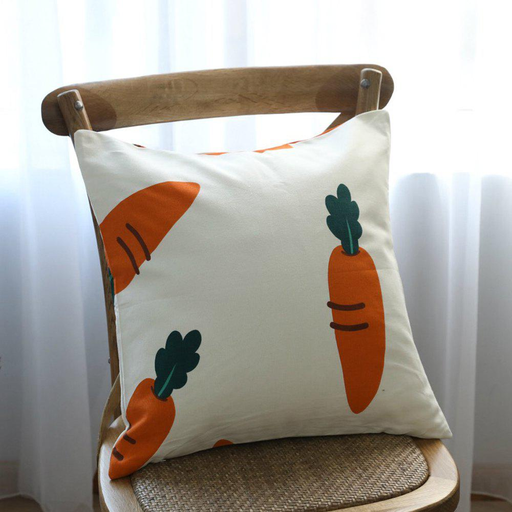 Outfits Sofa Cushion Fresh Carrot Pattern Comfortable Decorative Pillowcase