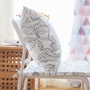 Home Sofa Cushion Fresh Leaves Pattern Cushion Pillowcase Decorative Pillow Cover -