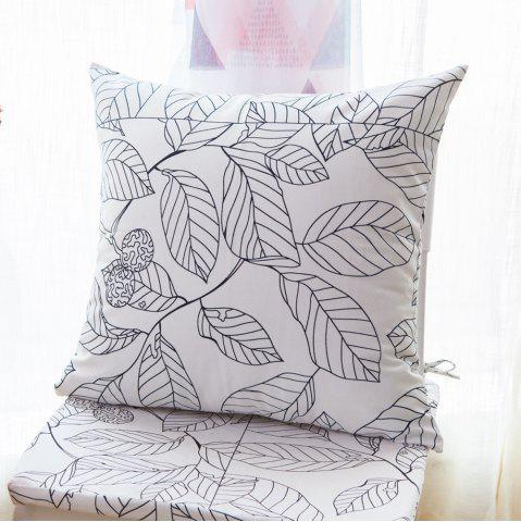 New Home Sofa Cushion Fresh Leaves Pattern Cushion Pillowcase Decorative Pillow Cover