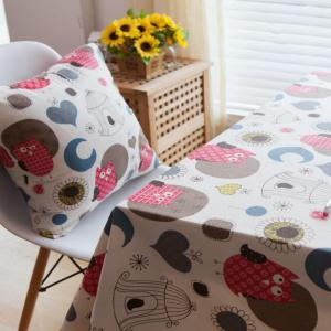 Home Decorative Pillowcase Owl Pattern Supple Sofa Cushion Cover -