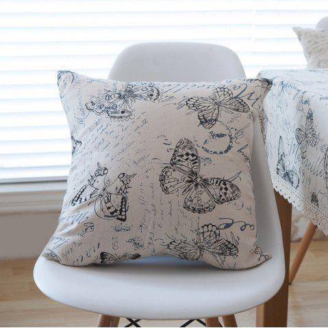 Trendy Home Decorative Pillowcase Butterfly Pattern Supple Sofa Cushion Cover