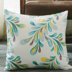 Decorative Pillowcase Color Plants Leaf Pattern Cushion Cover -