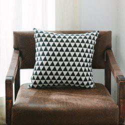 Sofa Cushion Cover Triangle Pattern Soft Square Pillowcase -