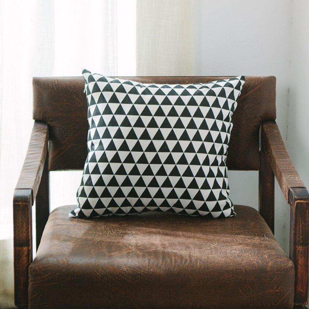 Trendy Sofa Cushion Cover Triangle Pattern Soft Square Pillowcase
