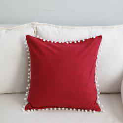 Sofa Cushion Case Solid Brief Style Square Comfortable Decorative Red Pillowcase -