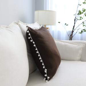 Sofa Cushion Case Solid Brief Style Square Comfortable Decorative Brown Pillowcase -