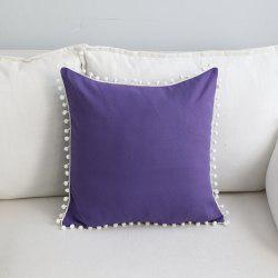 Sofa Cushion Case Solid Brief Style Square Comfortable Decorative Purple Pillowcase -