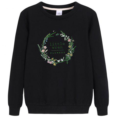 Store Thin Cotton Long Sleeve Round Collar Sweatshirt