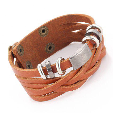 Shops Personalized Vintage Leather Braided Bracelet