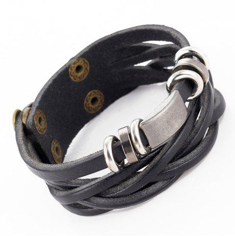 Chic Personalized Vintage Leather Braided Bracelet