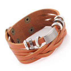 Personalized Vintage Leather Braided Bracelet -