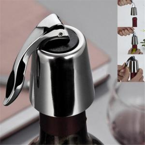 Stainless Steel Wine Stopper Kitchen Accessaries Reusable Vacuum Sealed Red Wine Bottle Stopper Cap Plug -