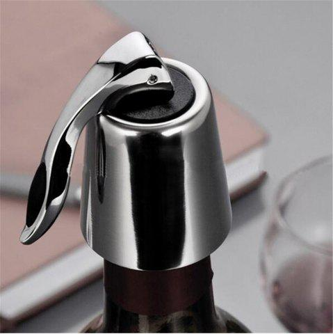 Shops Stainless Steel Wine Stopper Kitchen Accessaries Reusable Vacuum Sealed Red Wine Bottle Stopper Cap Plug