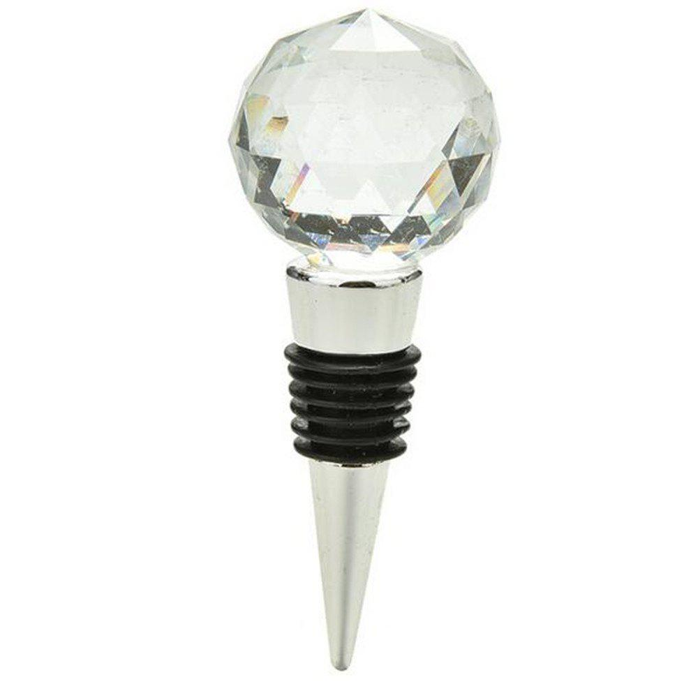 Buy Big Diamond Crystal Wine Stopper Bottle Opener Bar Tools and Accessories Wedding Favors Party Supplies Kitchen Tools