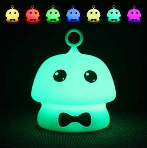 Shop USB Charging Colorful Mushroom Silica Gel Pink AND Blue Cartoon Night Light LED On The Bedside Lamp