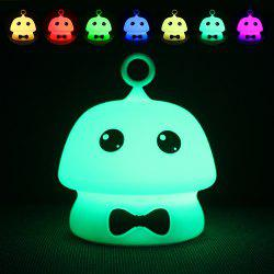 USB Charging Colorful Mushroom Silica Gel Pink AND Blue Cartoon Night Light LED On The Bedside Lamp -