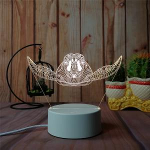 3D Sea Turtle Night Light Plug LED Stereo Bedroom Bedside Lamp -