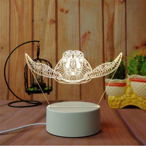 Sale 3D Sea Turtle Night Light Plug LED Stereo Bedroom Bedside Lamp