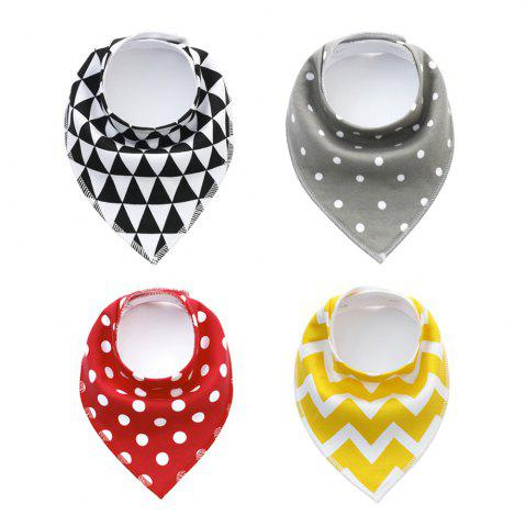 Store 4PCS Baby Bandana Drool Bibs Soft and Absorbent Bib with 100 Percent Organic Cotton (F11)