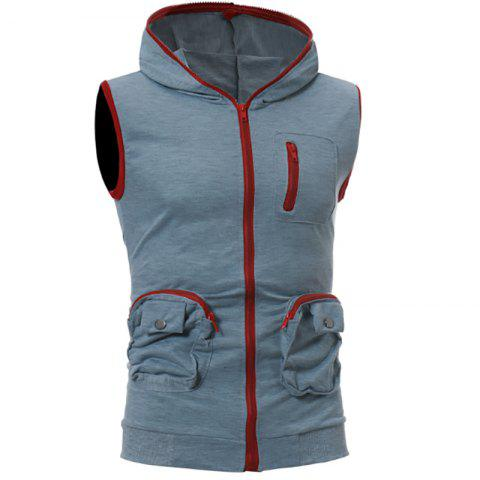 Online Men's Casual Three-Dimensional Pocket Design Fashion Vest