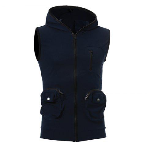 Chic Men's Casual Three-Dimensional Pocket Design Fashion Vest
