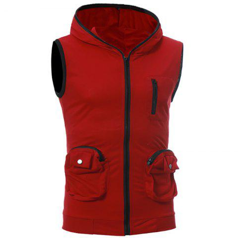 Cheap Men's Casual Three-Dimensional Pocket Design Fashion Vest