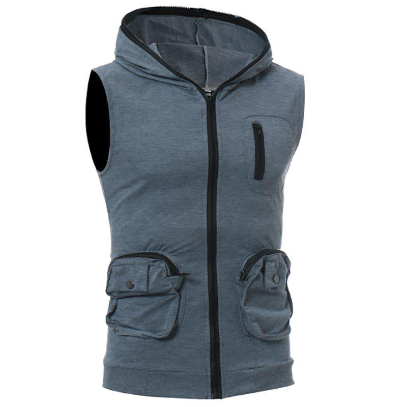 Shop Men's Casual Three-Dimensional Pocket Design Fashion Vest
