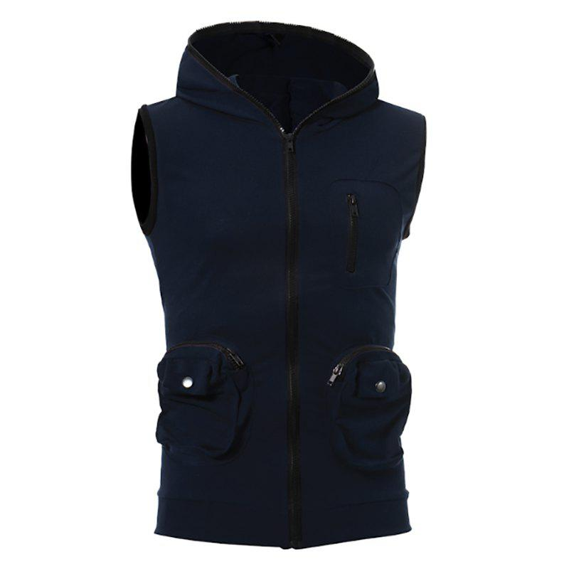 Best Men's Casual Three-Dimensional Pocket Design Fashion Vest