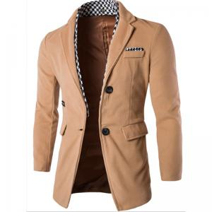 New Men's Windbreaker Houndstooth Decorative Fashion Casual Coat -