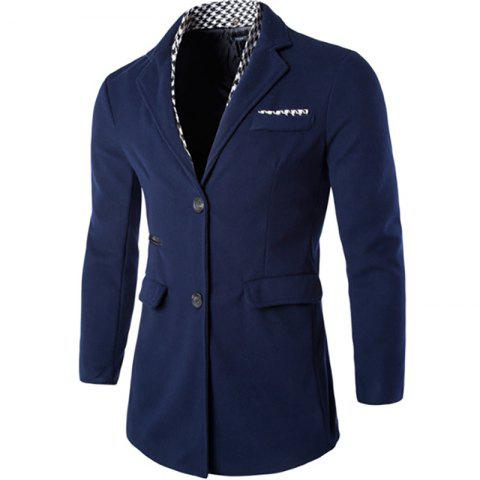 Store New Men's Windbreaker Houndstooth Decorative Fashion Casual Coat