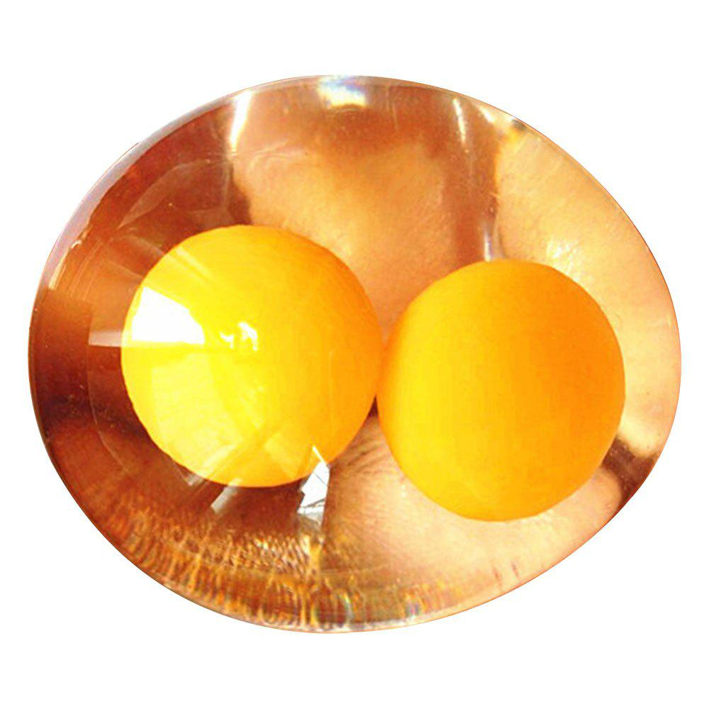 Fancy Double Yellow Egg Creative Water Polo Toy