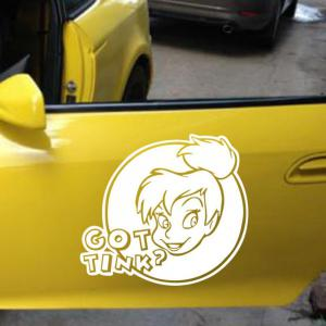 Got Tink Quote Wall Sticker Removable Girl Head Sculpture Car Decals -