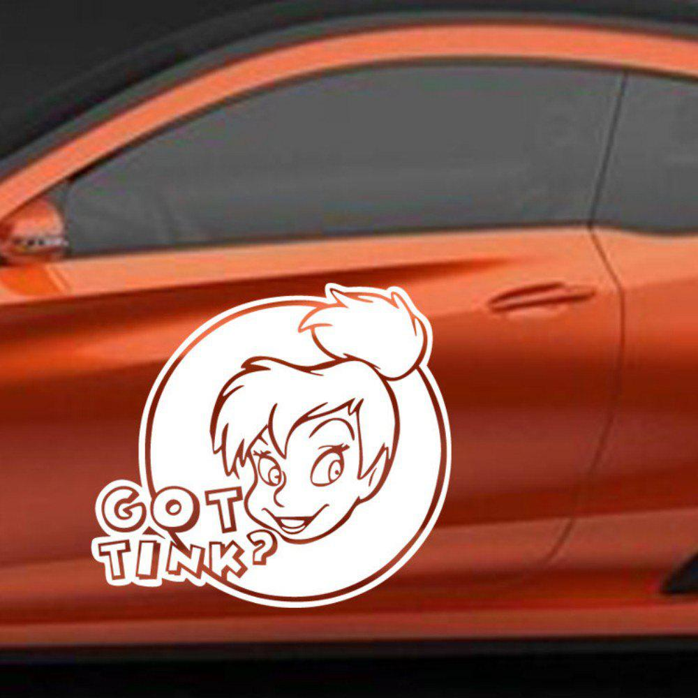 Hot Got Tink Quote Wall Sticker Removable Girl Head Sculpture Car Decals