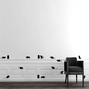 Cute Mouse Holes Vinyl Wall Stickers Room Decoration for Kids Nursery -