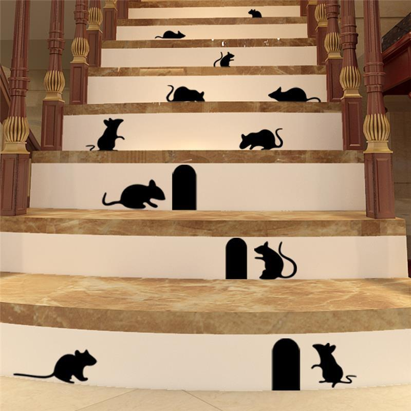 Affordable Cute Mouse Holes Vinyl Wall Stickers Room Decoration for Kids Nursery